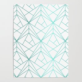 Geometric Turquoise Pattern Poster