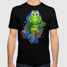 Teenage Mutant Ninja Koopa - Leo Black Mens Fitted Tee MEDIUM