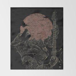 The Rock Werewolf Throw Blanket