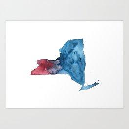 A New York State of Mind Art Print