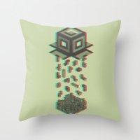 tetris Throw Pillows featuring Tetris by Delaney Digital