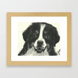 B&W dog Framed Art Print