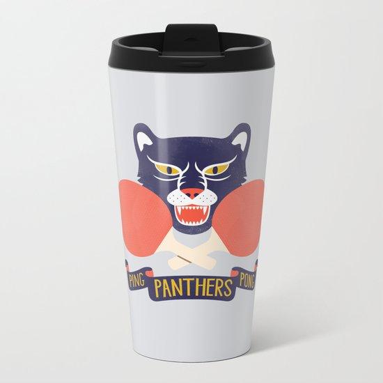 Ping Pong Panthers Metal Travel Mug