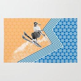 Ski Like a Girl Rug