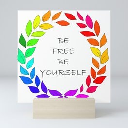 Freedom to be yourself, LGBT concept. Art. Mini Art Print