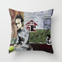 poland Throw Pillows featuring My summer in Poland by JulieAaland