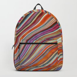 Wild Wavy Lines 16 Backpack