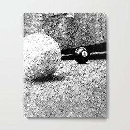 Billiards Art 4 Black and white Metal Print