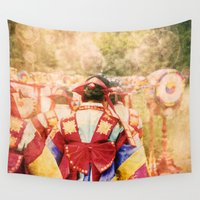 "korean Wall Tapestries featuring culture Photography ""KOREAN DANCER"" by FarbCafé"