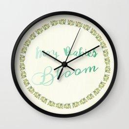 May Babies Bloom Wall Clock