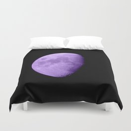 4K Dark Side of the Moon Violet Duvet Cover