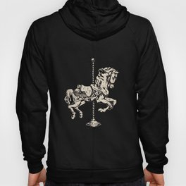 Vintage Carousel Horse - Mulberry Hoody