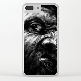 Stop Staring ! Clear iPhone Case