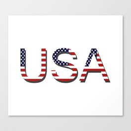 word United States of America Canvas Print