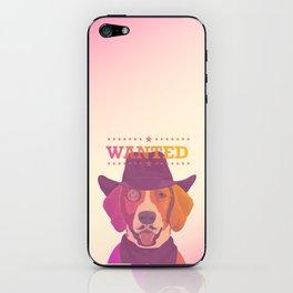 Cowboy dog iPhone Skin