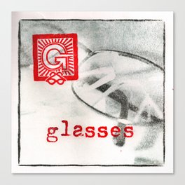 G is for glasses Canvas Print