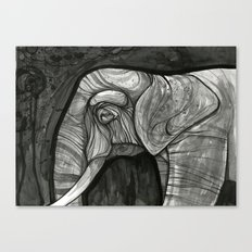 night elephant  Canvas Print