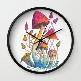 Mushroom Magic Wall Clock