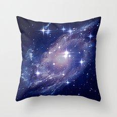 Galaxy deep in space. Throw Pillow