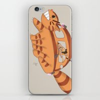 indiana jones iPhone & iPod Skins featuring Indiana Jones Riding Catbus by Aimee Zhou
