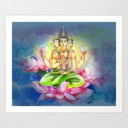 Brahma. Watercolor, paper. Art Print