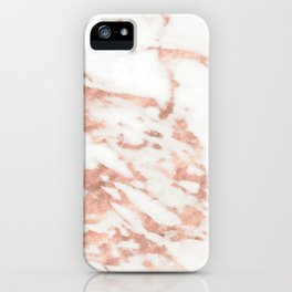 Taggia rose gold marble iPhone Case
