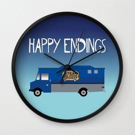 Steak Me Home - Happy Endings Wall Clock
