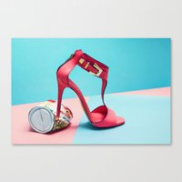 shoe Canvas Prints featuring shoe by Fah + Mindo