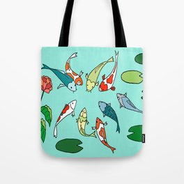 Koi Fish Meeting Tote Bag