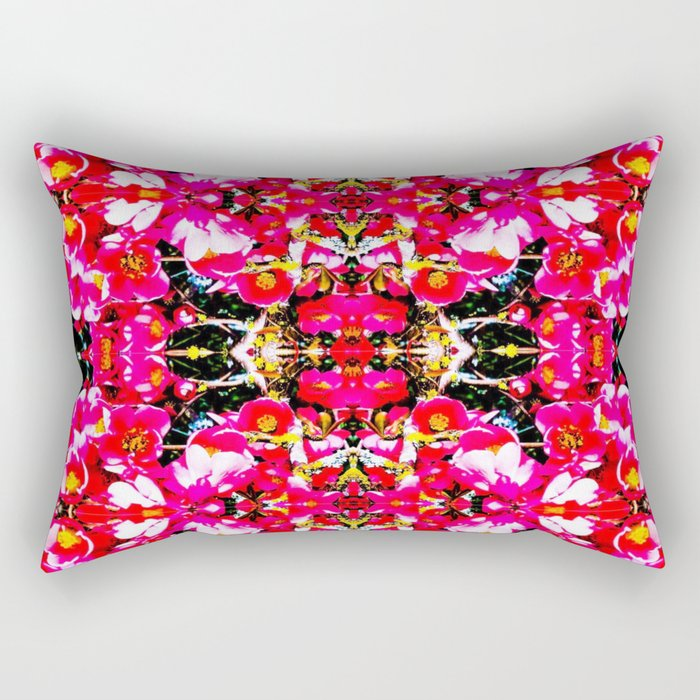 Peony IV - series (aka the Angela flower) Rectangular Pillow