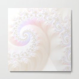 Ocean Treasure -- Mother of Pearls Mandelbrot Metal Print