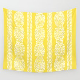 Cable Row Yellow Wall Tapestry