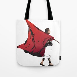 Woman with flag Tote Bag