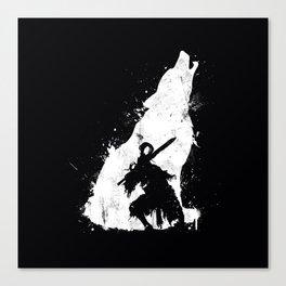 Wolf Knight Canvas Print