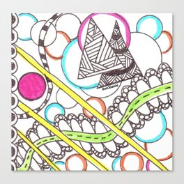"""PathWay"" Colored Zentangle Artwork Canvas Print"