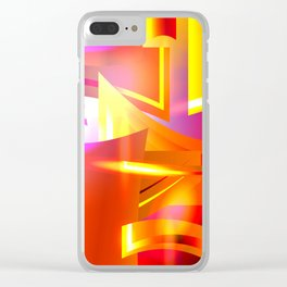 Golden Angelic Armor (Geometric Abstract Digital Art) #08 Clear iPhone Case