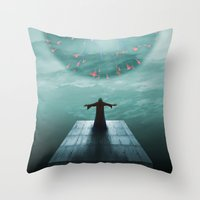 nordic Throw Pillows featuring Nordic magician by Tony Vazquez