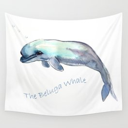 The Beluga Whale Wall Tapestry