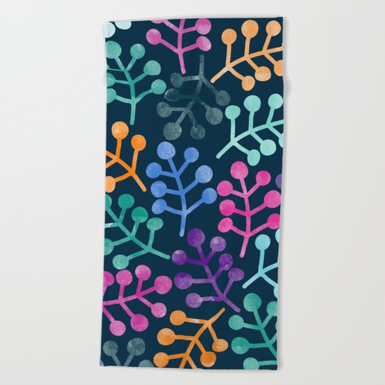 Colorful Leaves XII Beach Towel