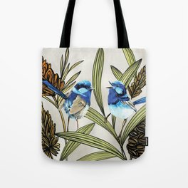 Blue Fairy Wren Tote Bag