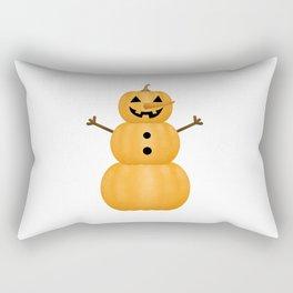 Pumpkin Snowman Rectangular Pillow