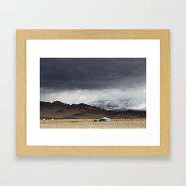 mongolian landscape Framed Art Print