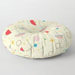 Atomic pattern umbrellas   #midcenturymodern Floor Pillow