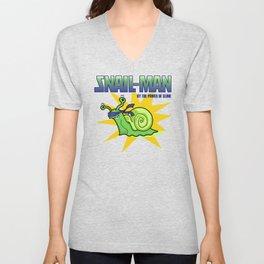 Snail-Man, by the Power of Slime Unisex V-Neck