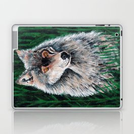 Grey Canadian Wolf Laptop & iPad Skin