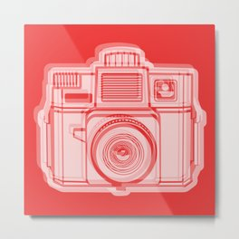 I Still Shoot Film Holga Logo - Reversed Red Metal Print