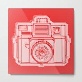 I Still Shoot Film Holga Logo - Reversed Red Metal Print