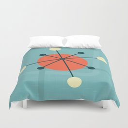 Mid century atomic design Duvet Cover