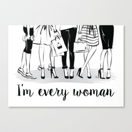 Every Woman Fashion Illustration Art Print Canvas Print