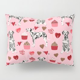 Dalmatian valentines day cupcakes and hearts love dog breeds dog lovers valentine Pillow Sham